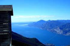 Panoramablicka auf den Gardasee